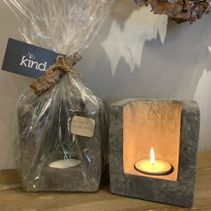 Candle Holder square Wrapped Brynxz