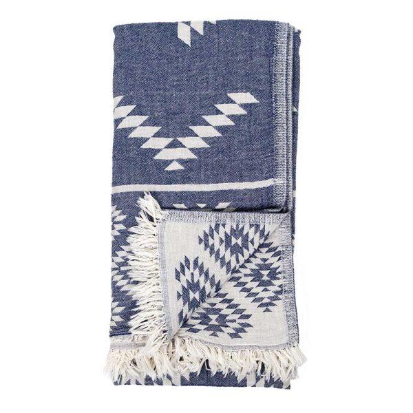 turkish towel geo denim