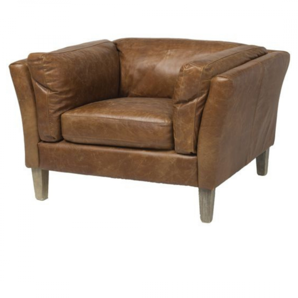 Distressed Leather Club Chair 2