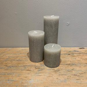 pillar candle taupe