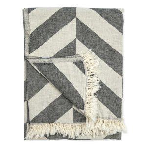 Turkish towel chevron black