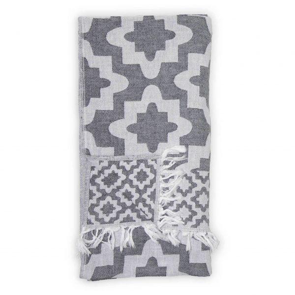TTPA4_lg palace dark grey Turkish towel