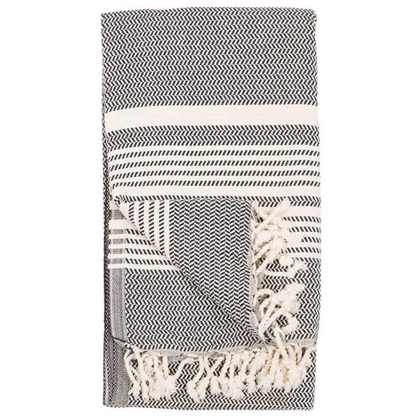 hasir carbon turkish towel -TTH6-2T
