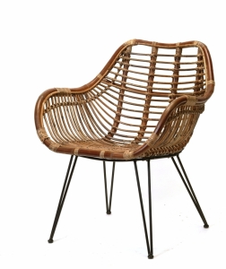 Dark rattan chair