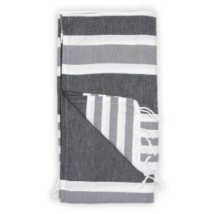 Turkish towel black ariel TTAR2_lg