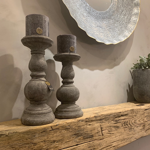Candle Holder Tall Luxe Grey Brynxz