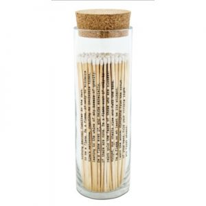 matches in a bottle tall