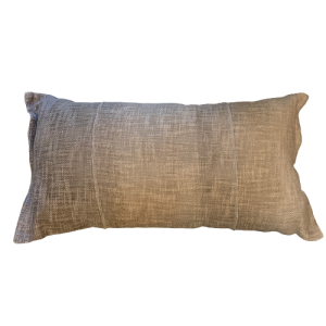 Cotton shades of oat pillow