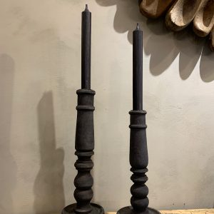 candle holder wood grey