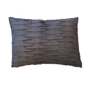 cotton plead lumbar pillow