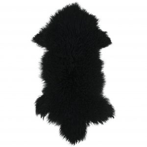 long-haired-tibetan-sheepskin Black
