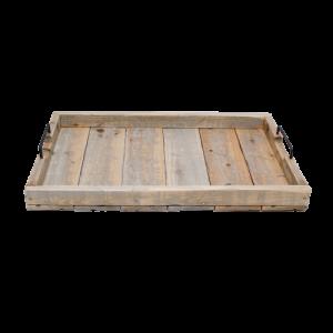 rectangular wooden tray