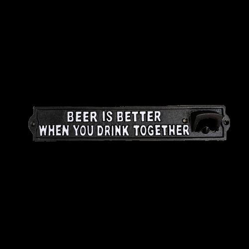 beer opener sign