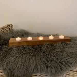 wood ledge candle holder
