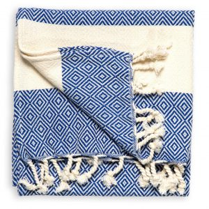 hand towel navy diamond