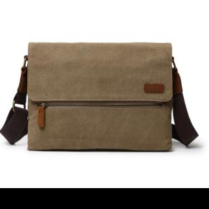 Canvas Shoulder Bag Khaki 3