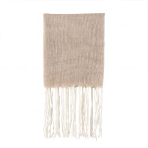 linen throw natural fringed