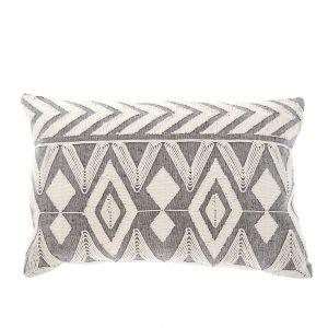 embroiderd lumbar pillow