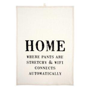 tea towel home is where wifi