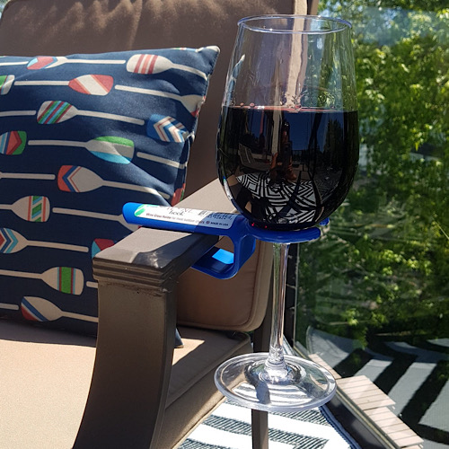 wine hook blue