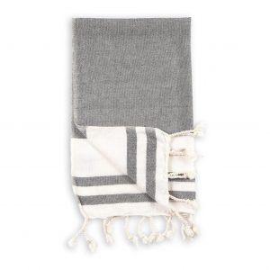 classic black hand towel
