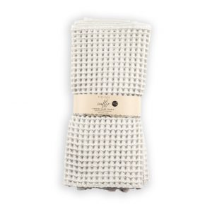 waffle hand towel light grey