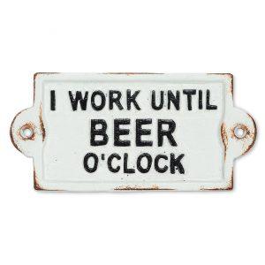 beer o clock sign