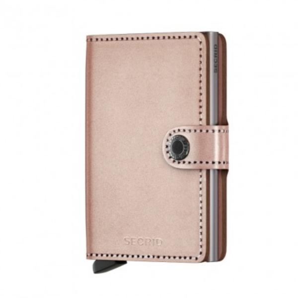 metallic rose secrid wallet