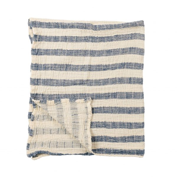 baby blanket sailor denim