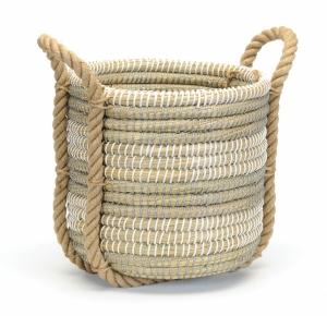 single coil grass decor basket