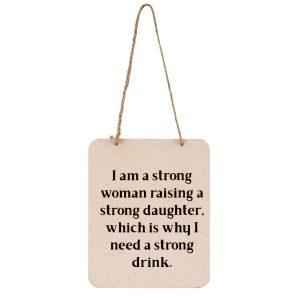 stong woman sign
