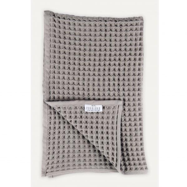 hand towel dark grey waffle