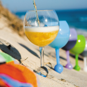 beach glass in sand