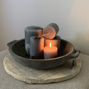 Candles In Bowl