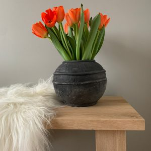Bol Vase Two Lines Tulips