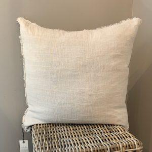 linen pillow chambray