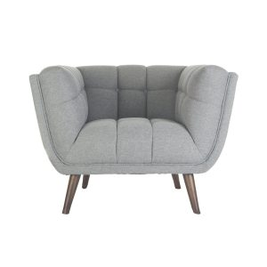 Wide Tufted Club Chair