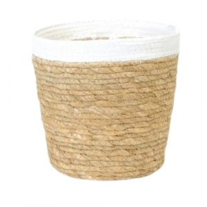 Straw Pot White Rim 7.5