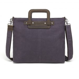 Waxed Canvas Shoulder Bag Grey