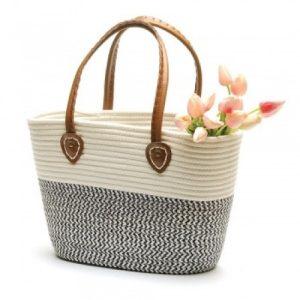 Black White Market Bag