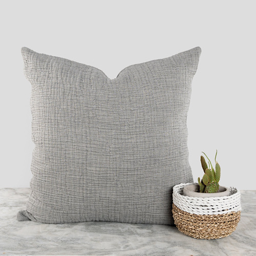 Pillow Crinkle Charcoal