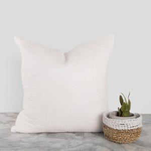 Crinkle Pillow White