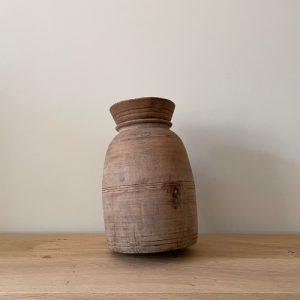 Authentic Wooden Jug Bulbous 1