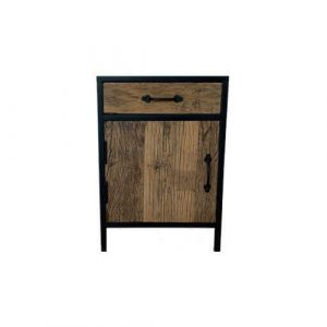 Wood and Steel Bedside Table 1