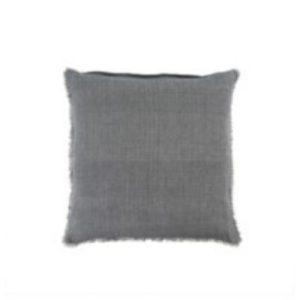 Lina Linen Pillow Steel Grey