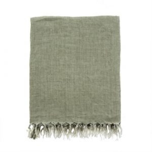 Lina Linen Throw Olive