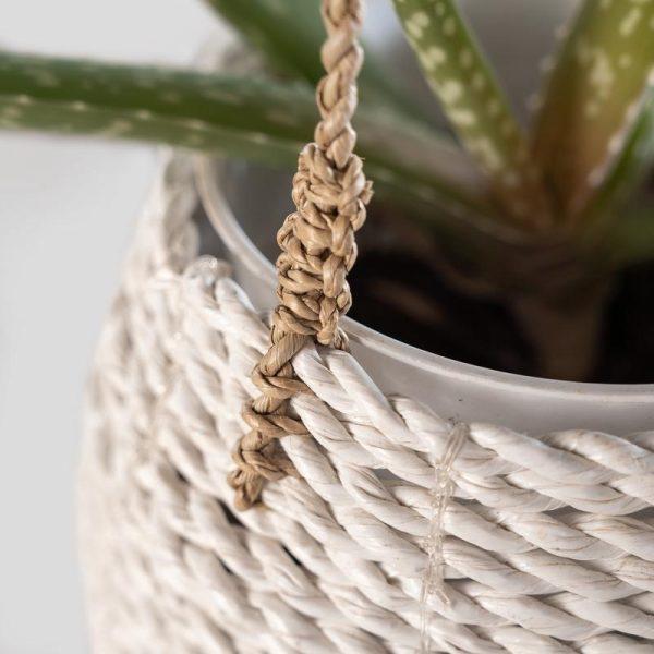 Hanging Pot Natural White 2