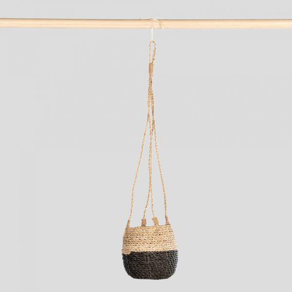 Hanging Pot Natural Black