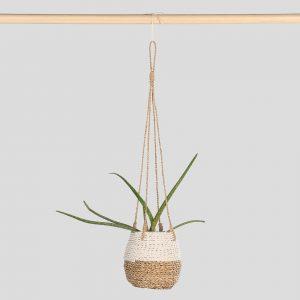 Hanging Pot Natural White